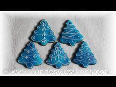 El pan de jengibre del artista: adornos de Navidad azules