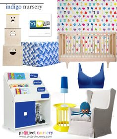 Is it just us or do you love all the indigo showing up in children's design lately? #nurserytrends #designboard