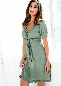 Light Green Italian Silk Blend Dress -  I love Italian Silk! So perfect for summertime :)