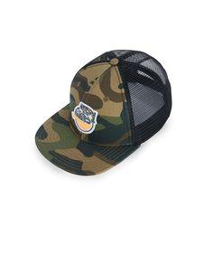 Smity 106 Funky Blue Modern Design Trucker Hat