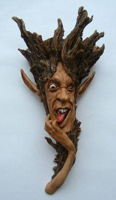 "Saatchi Art Artist Carl Turner; Sculpture, ""Treehead"" #art"