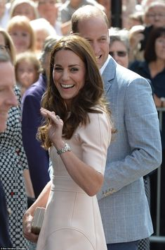The royal couple were all smiles as they greeted wellwishers outside the…