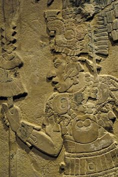 Maya Tablet of the Warriors  Temple XVII  Palenque, Mexico