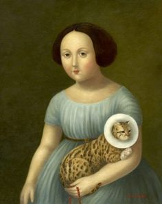 girl with injured cat / fatima ronquillo