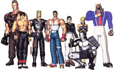 Jack, Law, Paul, Kazuya, Michelle, Yoshimitsu, Nina, and King