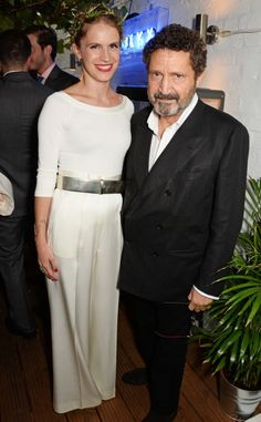 Daddy's girl: Eugenie's father Philip Niarchos was also emong the revellers at the Notting Hill bash
