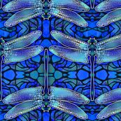 Dragonfly Allure custom fabric by panipage for sale on Spoonflower Wall Wallpaper, Custom Fabric, Creative Business, Spoonflower, Retirement, Graphic Design, Prints, Graphics, Purple