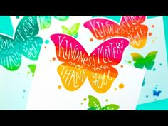 Rainbow Stamping + On-the-Edge Die Cutting - Jennifer McGuire Ink