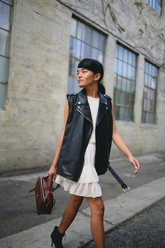 Olivia Lopez - Caro Marketing Leather Vest - On the Go