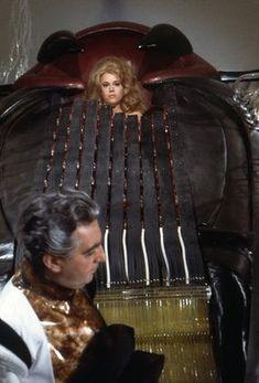 """Barbarella"" Jane Fonda in the Orgasm Machine 1968 Paramount Barbarella Movie, Jane Fonda Barbarella, Jane Seymour, George Segal, Henry Fonda, Retro Futurism, Sci Fi Fantasy, Battlestar Galactica"