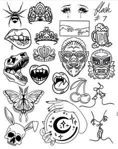 Tattoo Old School, Old School Art, Dessin Old School, Old School Tattoo Designs, Design Tattoo, Mandala Tattoo Design, Tattoo Design Drawings, Tribal Tattoo Designs, Tattoo Sketches