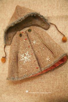jiajiadoll camel snow flower hooded coats cape 2 by jiajiadoll, $45.00