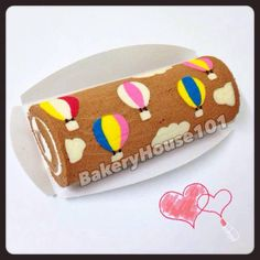 Japanese Deco Roll Cake. Cute Balloon