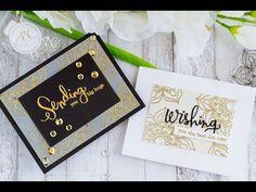 Vellum Embossed Birthday Cards Featuring Studio Katia's  Mandala Flower