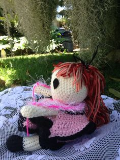 A personal favorite from my Etsy shop https://www.etsy.com/listing/238097068/handmade-crochet-doll-bed-doll-pink