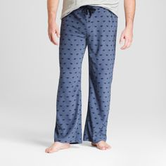 Men's Big & Tall Fleece Pajama Pants - Goodfellow & Co Balanced Blue Xxlt