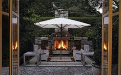 The Owner's Cottage Outdoor Fireplace
