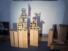 little preschool on the prairie: light and shadow study in the block area