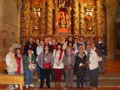 Fin de la visita guiada en la Iglesia de Santa María