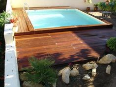 piscines bois petite piscine hors sol enterre - Piscine En Bois Semi Enterree Leroy Merlin