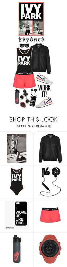 """""""Slay All Day: Style Beyonce's Ivy Park!"""" by shortyluv718 ❤ liked on Polyvore featuring Topshop, Ivy Park, Monster, NIKE, Suunto, Karen Walker, Beyonce, contestentry and IvyPark"""
