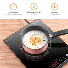 Portable Induction Cooktop iSiLER Sensor Touch Electric Induction Cooker Cooktop with Kids Safety Lock Countertop Burner Suitable for Cast Iron Stainless Steel Cookware *** Continue to the product at the image link. (This is an affiliate link) Infrared Thermometer, Cake Makers, Energy Consumption, Small Kitchen Appliances, Kitchen Small, Mini Cakes, Countertops, Cooker, Electric