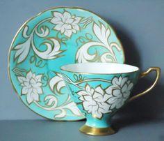 Vintage Teacups and Saucers  Vintage Tea Cup  $44.00