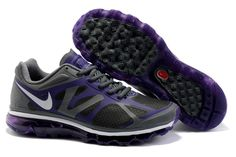 Nike Air Max Shoes 2012 Mens Grey/Black/Purple from www.cheapshoescollection.com