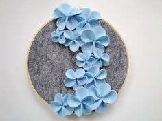 felt flower embroidery hoop.