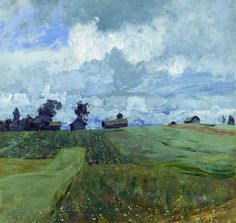Isaac Ilyich Levitan (Lithuanian-Russian, Landscape of Mood, 1860–1900): Stormy Day, 1897. Oil on canvas, 82 × 86.5 cm. Tretyakov Gallery, Moscow, Russia.