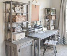 Free Plans - DIY Desk System by Shanty2Chic