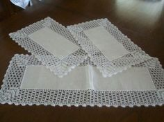 Details about Vintage - New Quaker Lace Tablecloth Highland 70 x 90 Oblong NIP Crochet Fabric, Crochet Motifs, Crochet Quilt, Crochet Borders, Thread Crochet, Crochet Doilies, Hand Crochet, Crochet Lace, Crochet Patterns