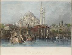 Thomas Allom (1804-1872) - 'Constantinople Turkey Mosque of Yeni Jami on Bosphorus'