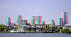Skyline Rotterdam in hyperstereo