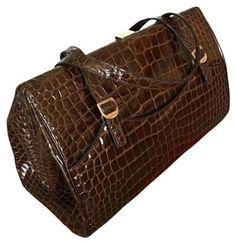 40d5d4829ff9 Dolce   Gabbana Brown Aligator Skin Satchel