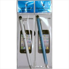 2 of these Styli.      1 in White     1 in Light Blue  One end is a stylus and the other is a ball point pen.  £1.99 on ebid