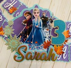 Frozen Cake Topper, Frozen Birthday Party Decorations, Frozen Inspired Cake Topper, Personalized Frozen Party Cake TopFroper, Elsa Cake Topper