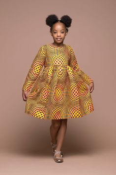 Modern African Dress Style for Kids 2018 That Will Blow Your Mind ~ AfroFashionStyle Ankara Styles For Kids, African Dresses For Kids, African Children, African Print Dresses, African Fashion Dresses, African Babies, African Prints, African Patterns, Nigerian Fashion