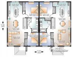 plan de maison jumelée 2 chambres
