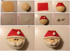 Para quem gosta de bolo: Passo a passo: cupcake de Papai Noel só com pasta americana