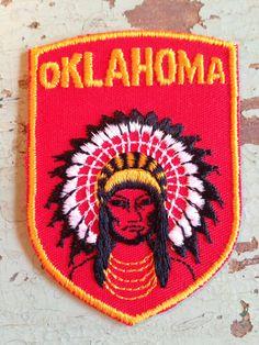 Oklahoma Vintage Travel Patch by Voyager by HeydayRetroMart, $6.50