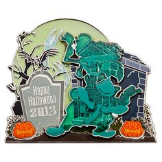 Hitchhiking Ghosts Halloween 2013 Jumbo Pin - The Haunted Mansion | Pins | Disney Store