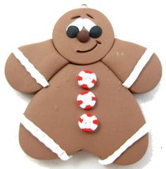 How to make Polymer Clay - Gingerbread Man - DIY Craft Project with instructions from Craftbits.com