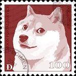 Stamp for dogecoin on muchmarket.com