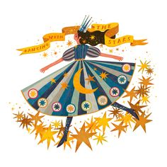 """""""Dancing With The Stars"""" illustrated by Kathrin Honesta"""