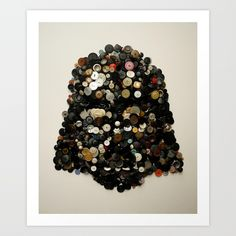 Darth Buttons Art Print by Noah Scalin | Society6