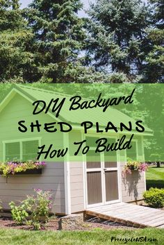 Finding some large shed plans can help you save time, money and effort. Visualize yourself out in your garden, facing the spot where you want to build your shed. This will give you a clear picture of how the storage shed should look. You will probably get many ideas about the color, shape and design …