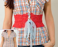 Blouse with Lace: Use whatever color(s) etc you like to suit your style - DIY - Click the picture for a how-to