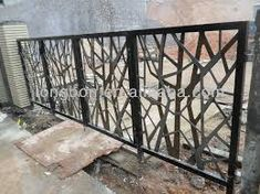 modern wrought iron fence designs - cool - naturey