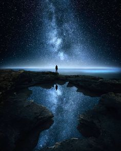Solitude by Ville Heino on Creative Pictures, Nature Pictures, Star Photography, Universe Art, One Image, Solitude, Amazing Nature, Amazing Spaces, Night Skies